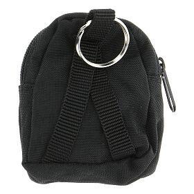 Sac-à-dos porte-clés noir IHS peint à la main s2