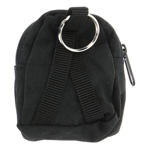 Sac-à-dos porte-clés noir IHS peint à la main 2