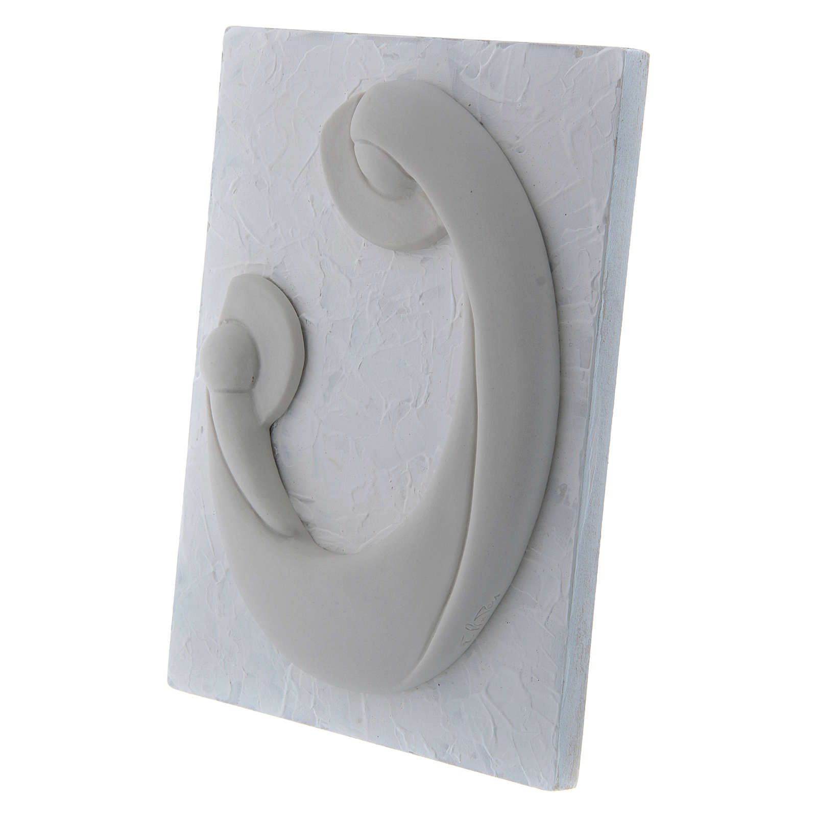Bajorrelieve de porcelana blanca Virgen Niño panel blanco Pinton 17x13 cm 4