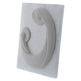 Bajorrelieve de porcelana blanca Virgen Niño panel blanco Pinton 17x13 cm s2