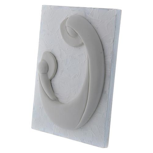 Bajorrelieve de porcelana blanca Virgen Niño panel blanco Pinton 17x13 cm 2