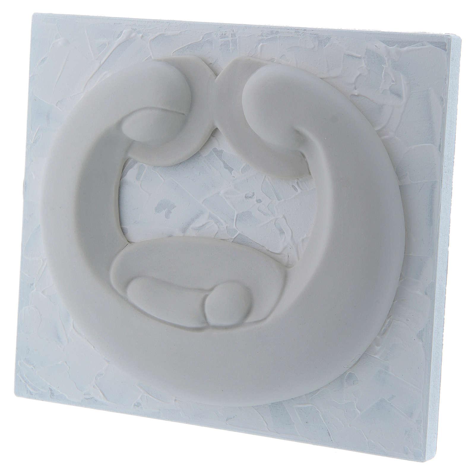 Bajorrelieve de porcelana blanca Pinton Sagrada Familia panel blanco 15x17 cm 4