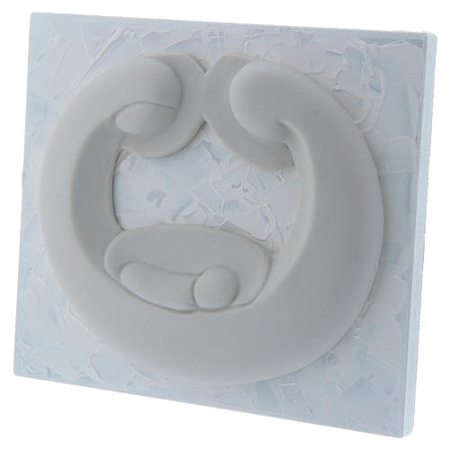 Bajorrelieve de porcelana blanca Pinton Sagrada Familia panel blanco 15x17 cm 2