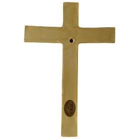 Crocifisso tunicato 25 cm porcellana dipinta Pinton s4