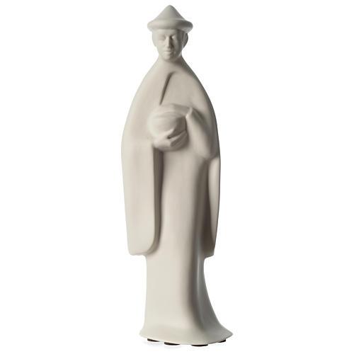 Re Magio in piedi presepe 40 cm porcellana Francesco Pinton 1