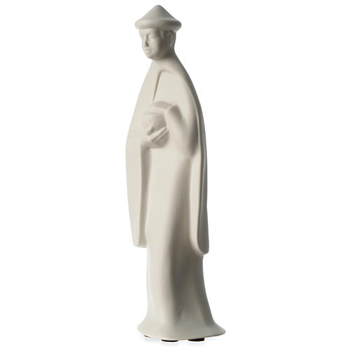 Re Magio in piedi presepe 40 cm porcellana Francesco Pinton 2