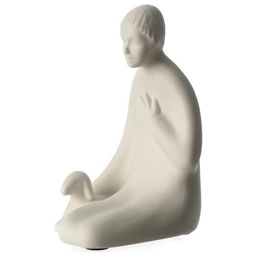 Shepherd for nativity scene in porcelain 40 cm Francesco Pinton 2