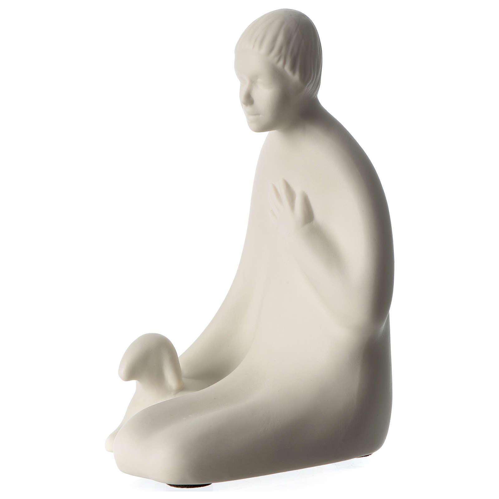 Pastor belén 40 cm de altura media porcelana Pinton 4
