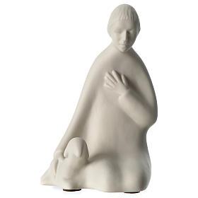Pastor para presépio de porcelana Francesco Pinton com figuras 40 cm altura média s1
