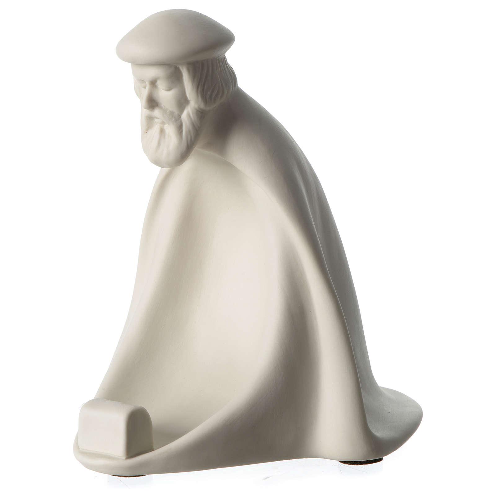 Re Magio Adorazione presepe 40 cm porcellana Pinton 4