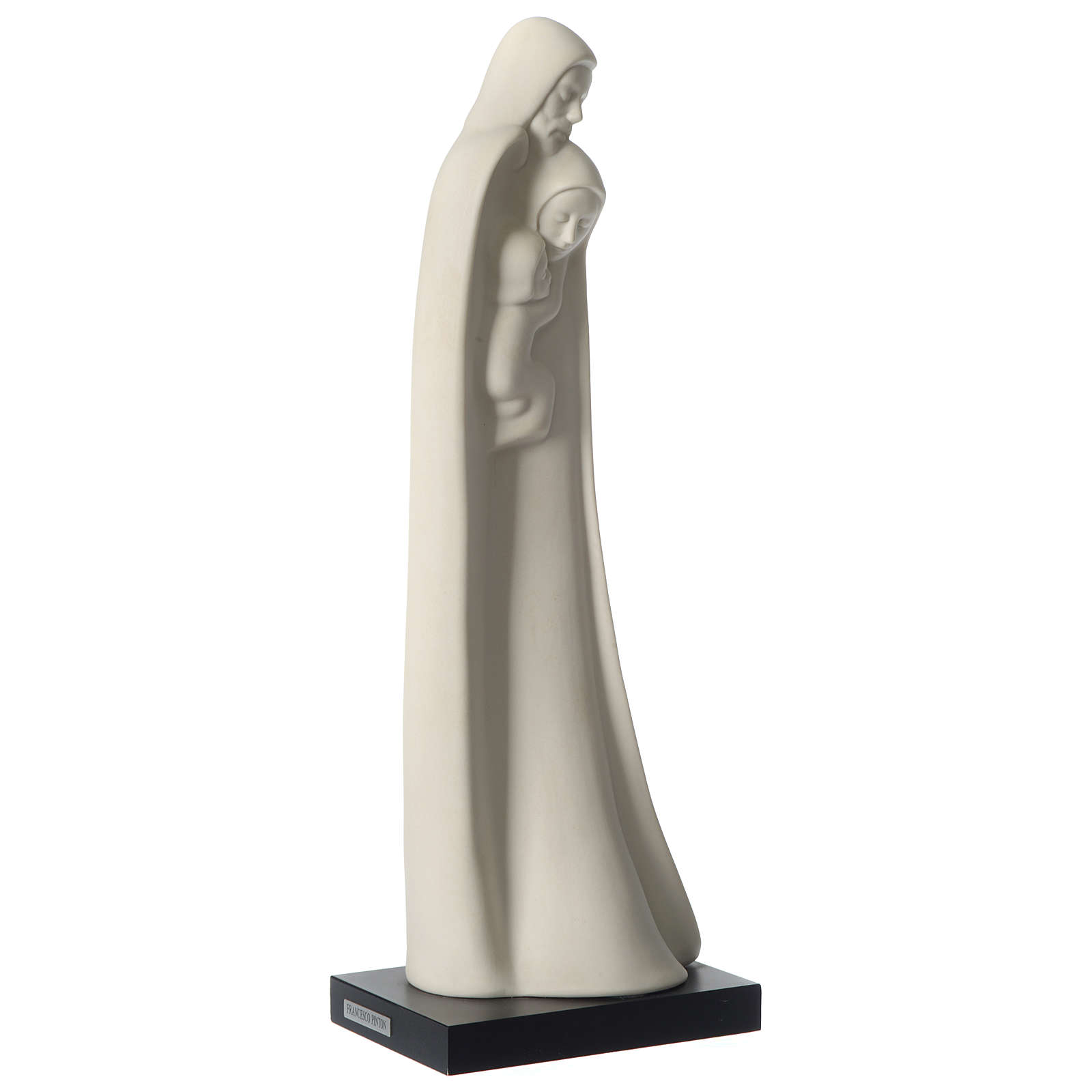 Holy Family standing in porcelain 40 cm Francesco Pinton 4