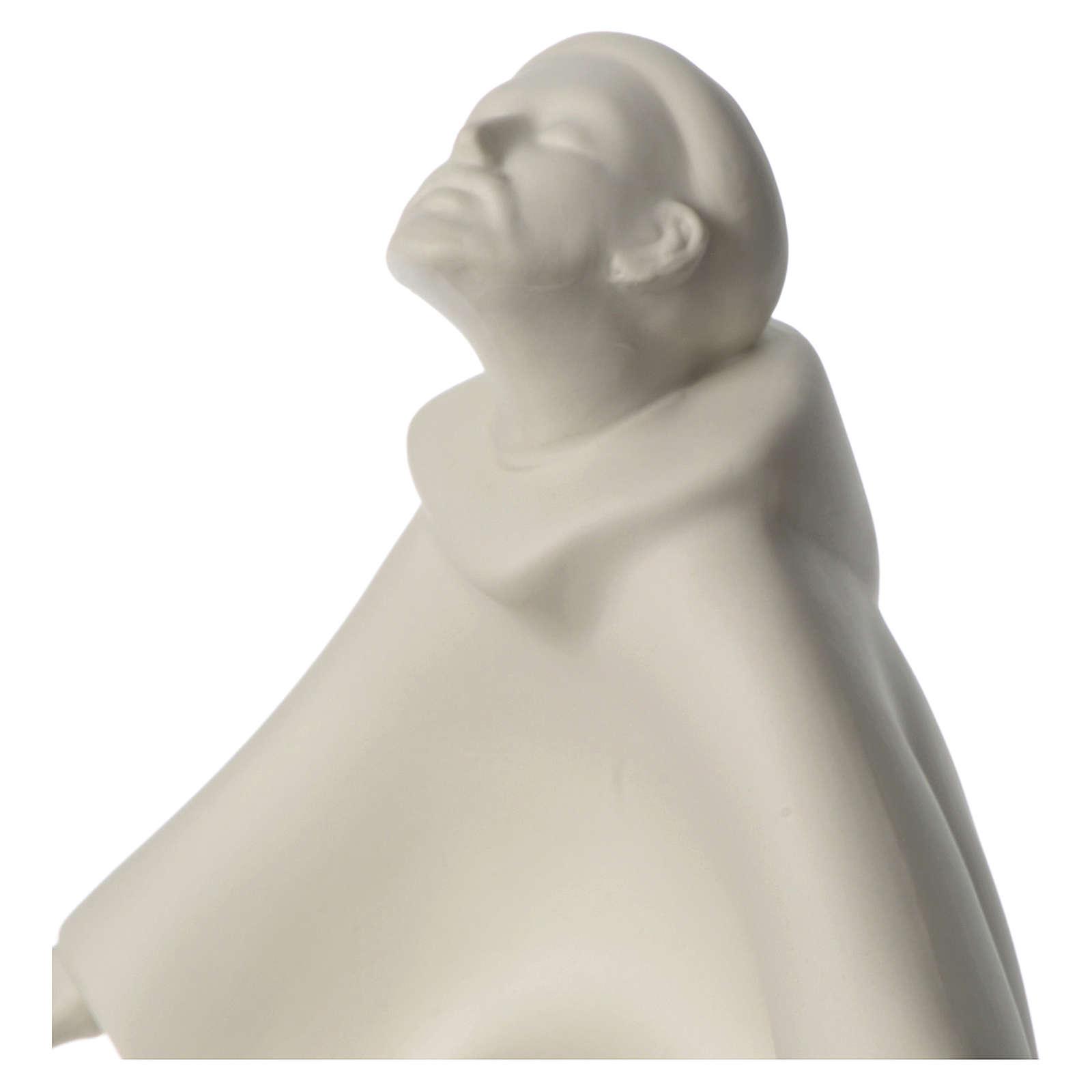 San Francesco in ginocchio porcellana 24 cm Francesco Pinton 4