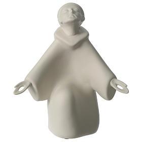 San Francesco in ginocchio porcellana 24 cm Francesco Pinton s1