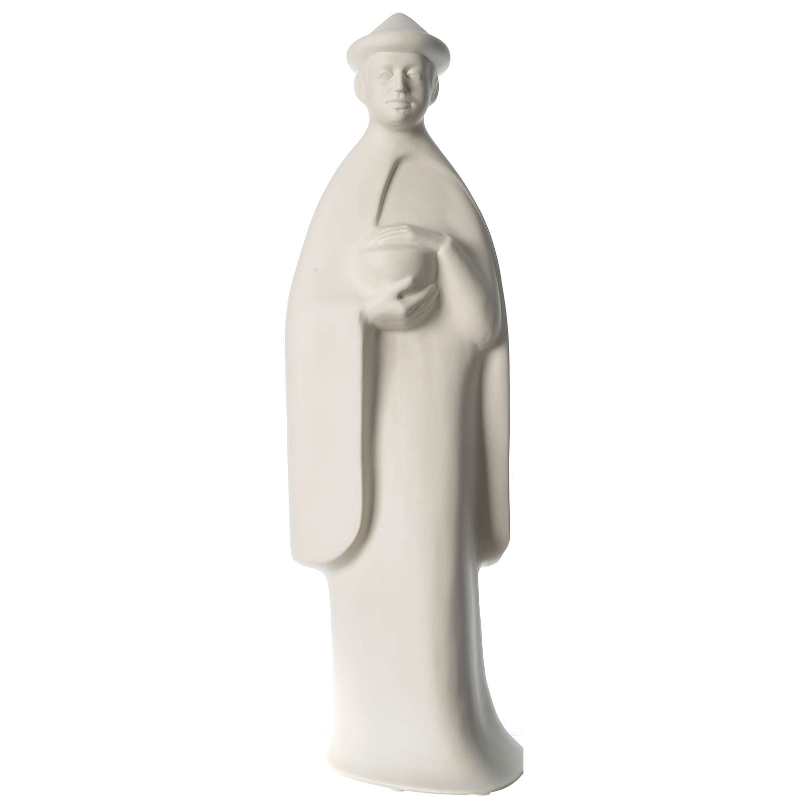 Rey de pie porcelana para belén 55 cm de altura media Francesco Pinton 4