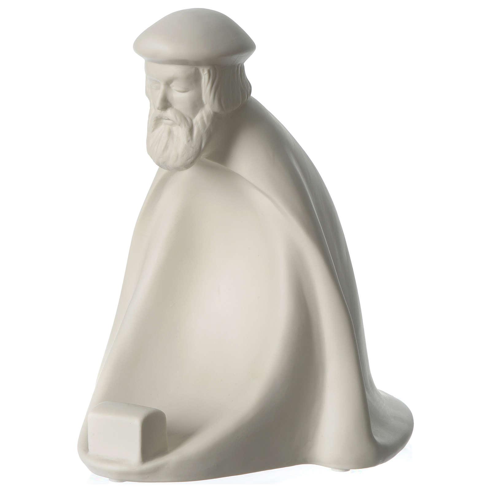 Rey prono porcelana para belén 55 cm de altura media Francesco Pinton 4