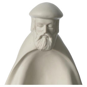 Rey prono porcelana para belén 55 cm de altura media Francesco Pinton s2