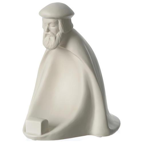 Rey prono porcelana para belén 55 cm de altura media Francesco Pinton 3