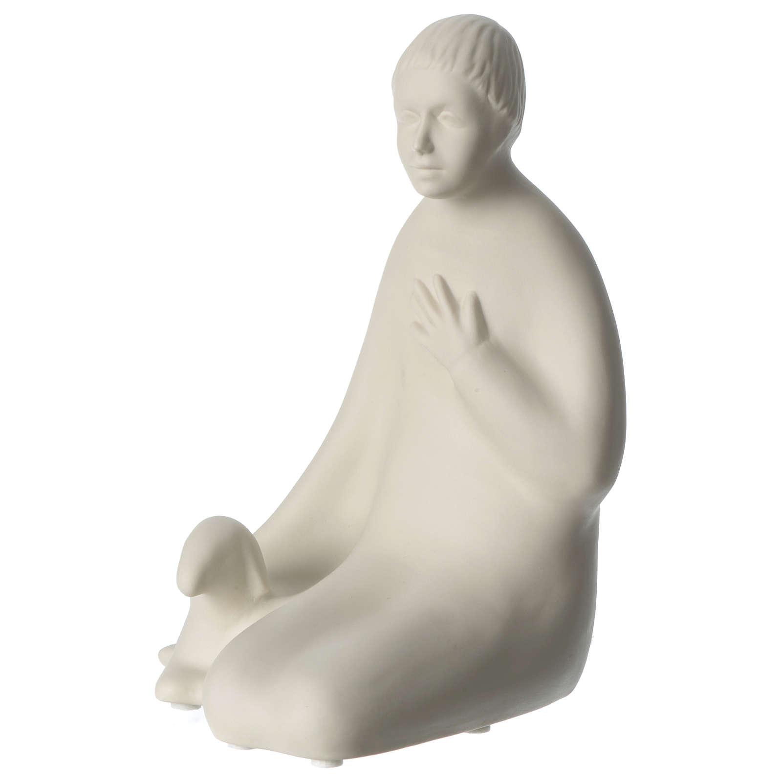 Pastore porcellana per presepe 55 cm Francesco Pinton 4