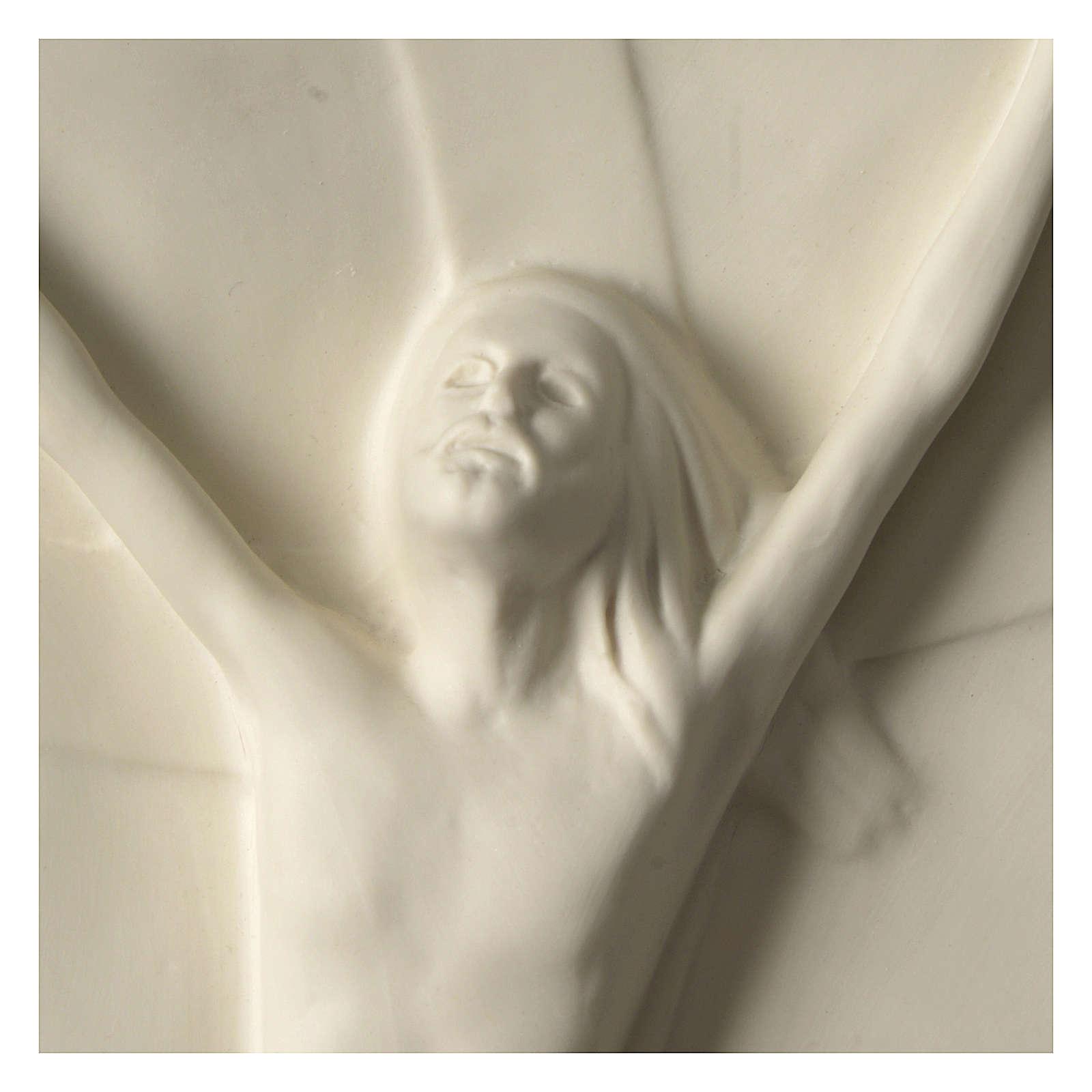 Christ rising high relief in porcelain 44x19 cm Francesco Pinton 4
