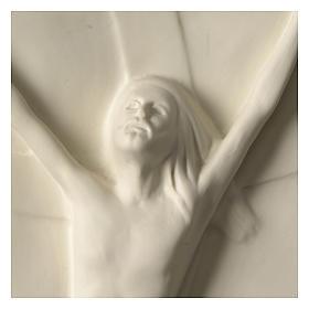 Christ rising high relief in porcelain 44x19 cm Francesco Pinton s2