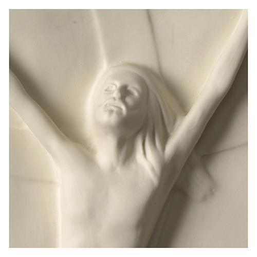 Christ rising high relief in porcelain 44x19 cm Francesco Pinton 2
