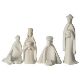 Three Wise Men and shepherd for 16 cm Nativity scene in porcelain Francesco Pinton s1