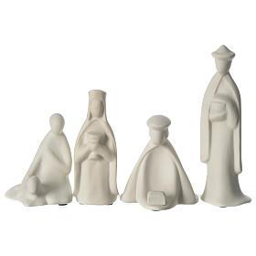 Tres reyes y pastor porcelana para belén 16 cm de altura media Francesco Pinton s1
