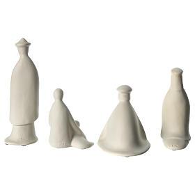 Tres reyes y pastor porcelana para belén 16 cm de altura media Francesco Pinton s6