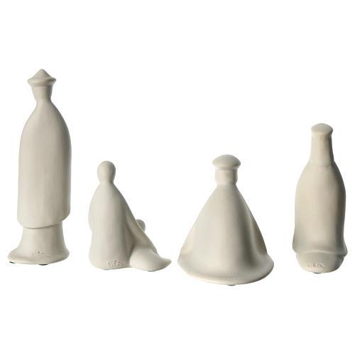 Tres reyes y pastor porcelana para belén 16 cm de altura media Francesco Pinton 6