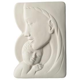Virgen con Niño bajorrelieve porcelana 40 cm Pinton s1