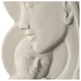 Virgen con Niño bajorrelieve porcelana 40 cm Pinton s2