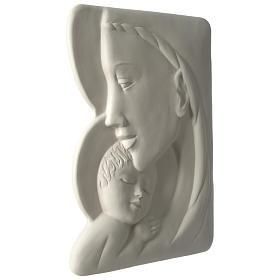 Virgen con Niño bajorrelieve porcelana 40 cm Pinton s3