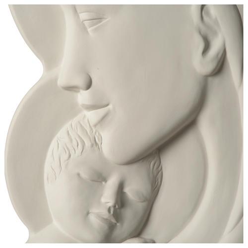 Virgen con Niño bajorrelieve porcelana 40 cm Pinton 2