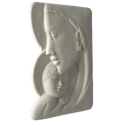 Virgen con Niño bajorrelieve porcelana 40 cm Pinton 3