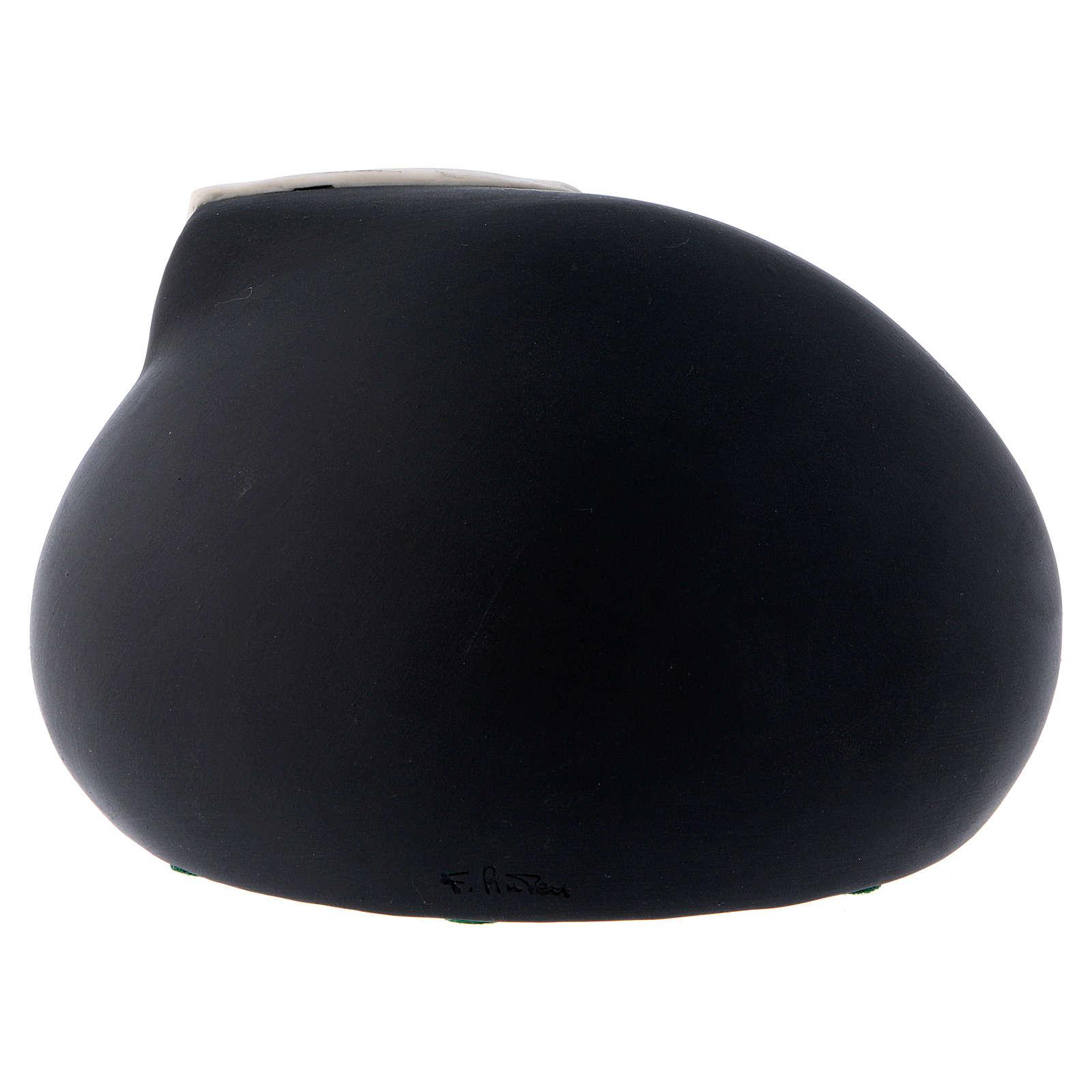 Natividad estilizada cometa y cueva negra Pinton 10 cm 3
