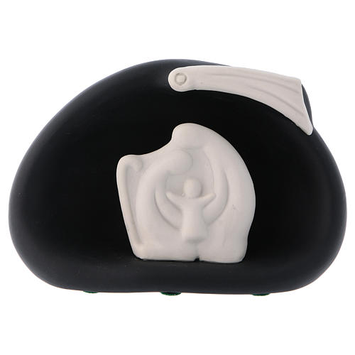 Natividad estilizada cometa y cueva negra Pinton 10 cm 1