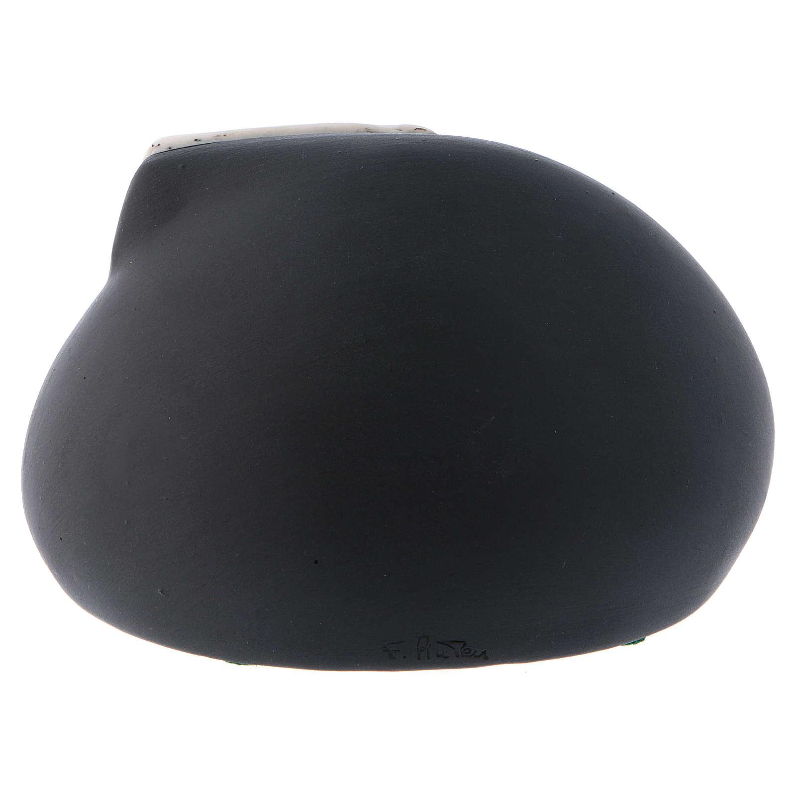 Natividad estilizada Francesco Pinton cueva negra y cometa porcelana 8 cm 3
