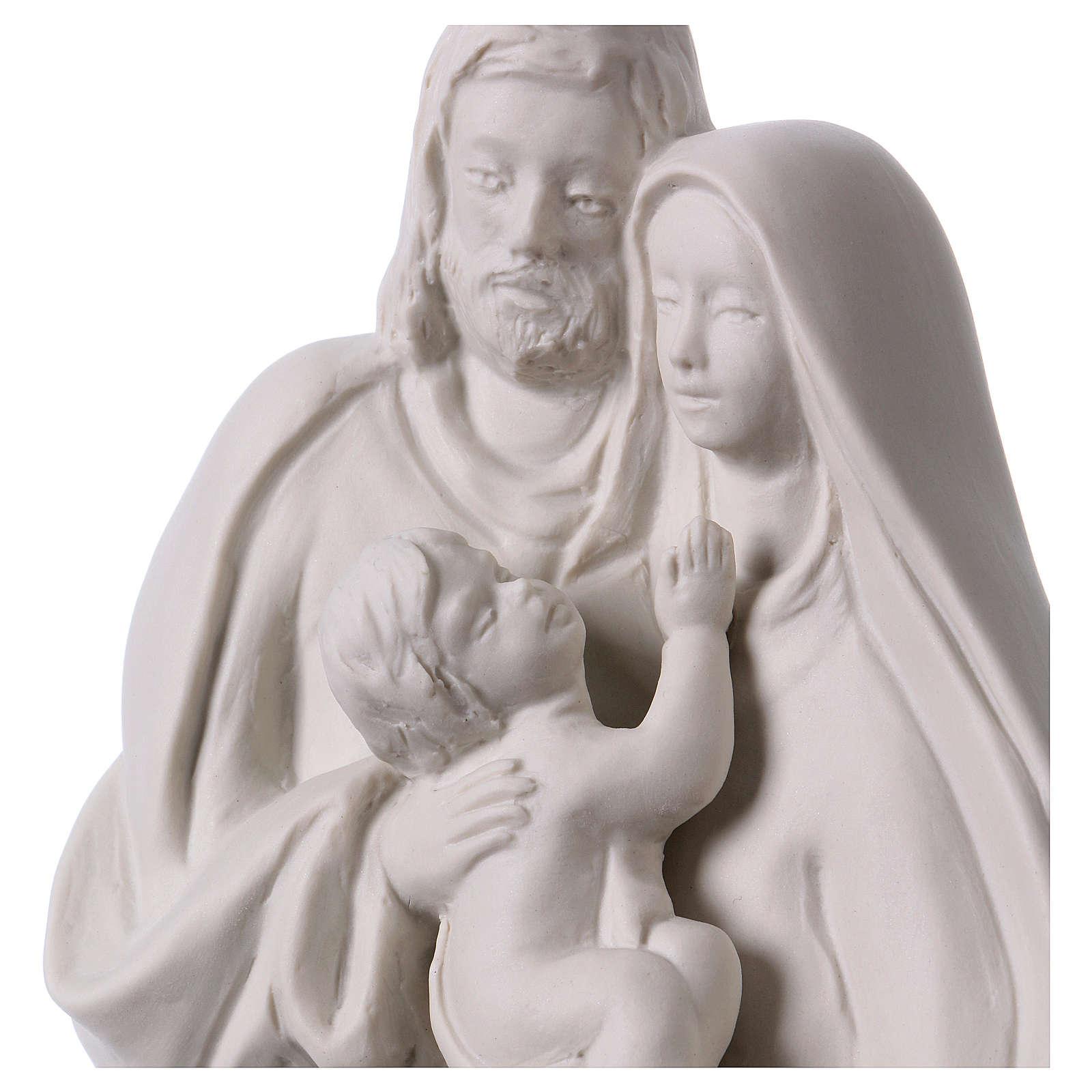 Holy Family in white porcelain 19 cm 4