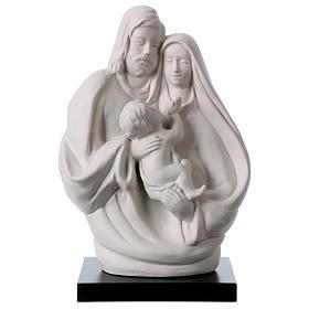 Holy Family in white porcelain 19 cm s1