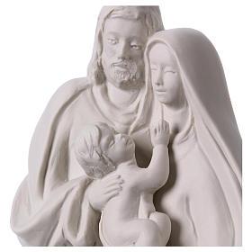 Holy Family in white porcelain 19 cm s2