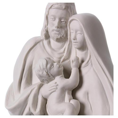 Holy Family in white porcelain 19 cm 2