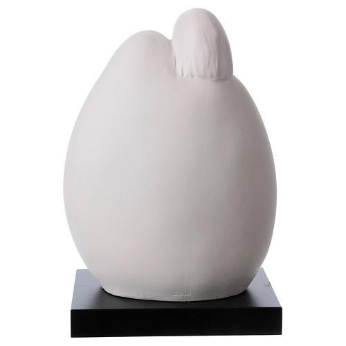 Sacra Famiglia Busto in porcellana forma ovoidale 22 cm 5