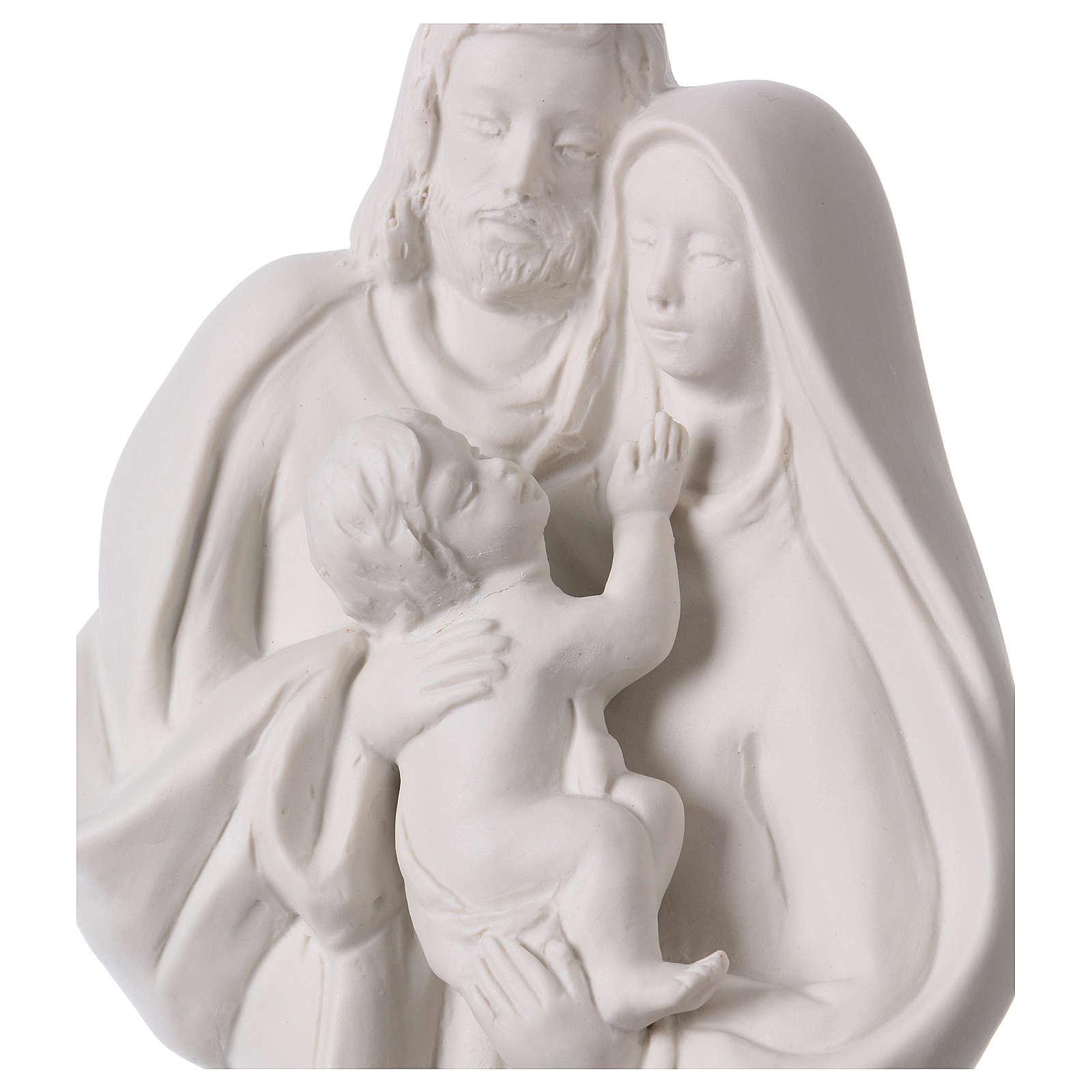 Holy Family in white porcelain 36 cm 4