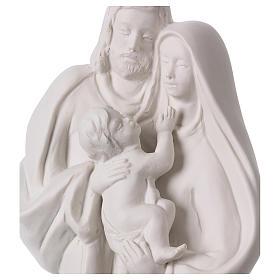 Holy Family in white porcelain 36 cm s2
