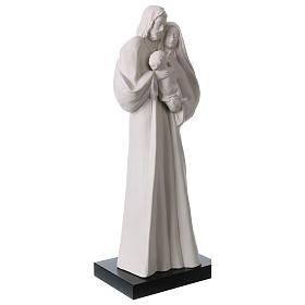 Holy Family in white porcelain 36 cm s4