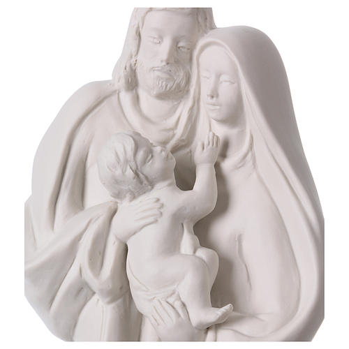 Holy Family in white porcelain 36 cm 2