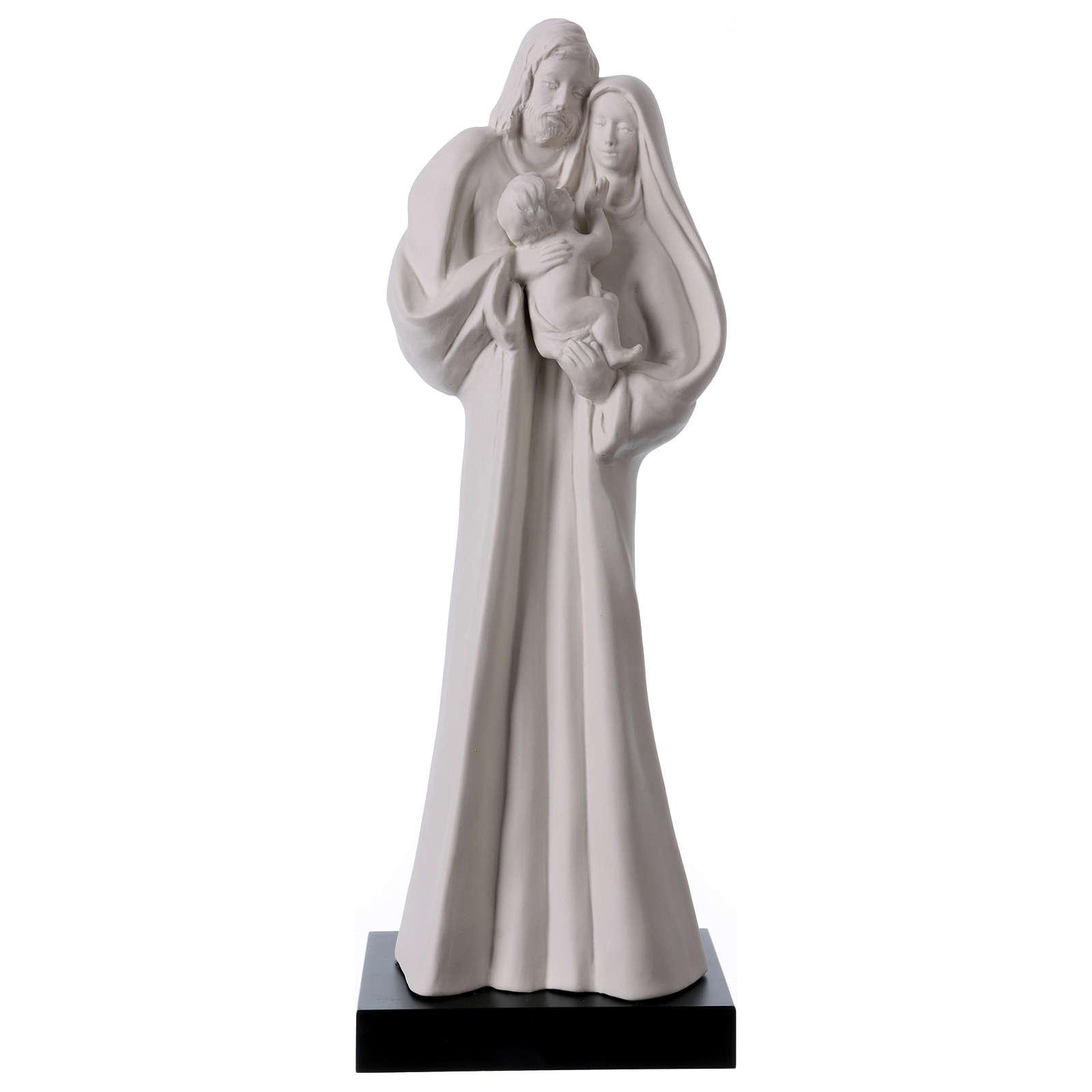 Statua Sacra Famiglia porcellana bianca 32 cm 4