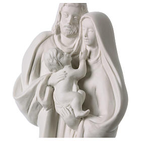 Statua Sacra Famiglia porcellana bianca 32 cm s2