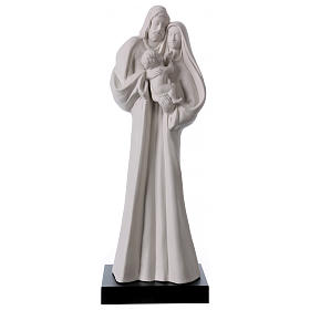 Porcelain and fireclay statues: Standing Holy Family statue in white porcelain 12 in