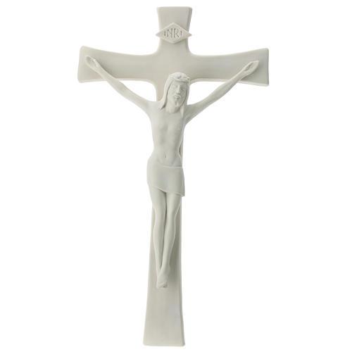 White porcelain crucifix 35 cm 1